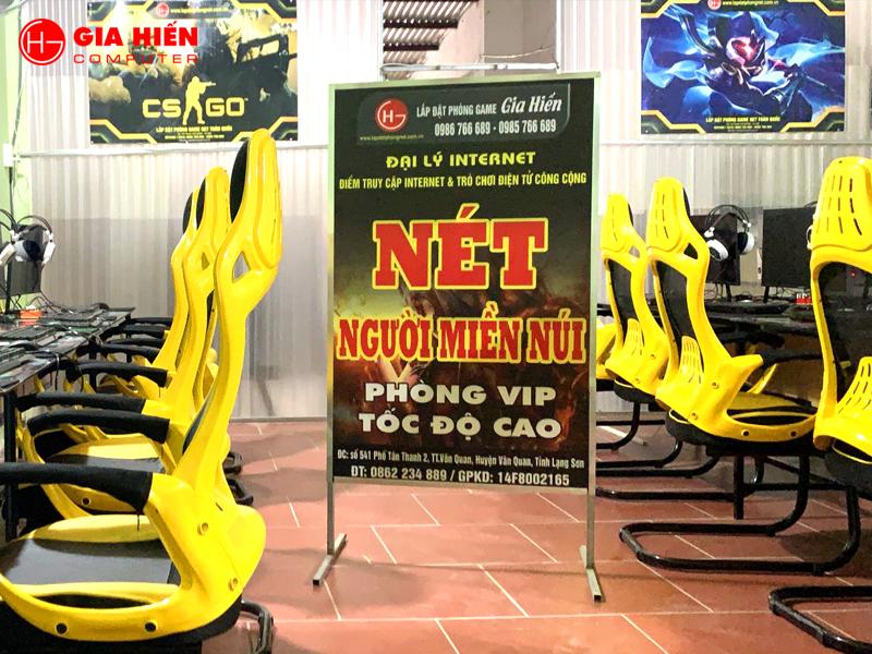 Phòng game tọa lạc tại TT Văn Quan, Lạng Sơn.