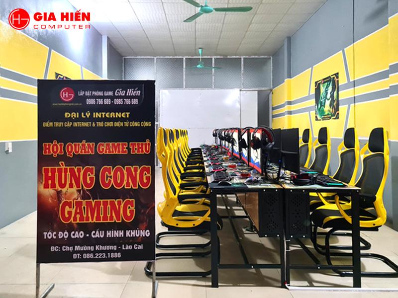 Hùng Cong Gaming được thiết kế theo mô hình Cyber game mini.