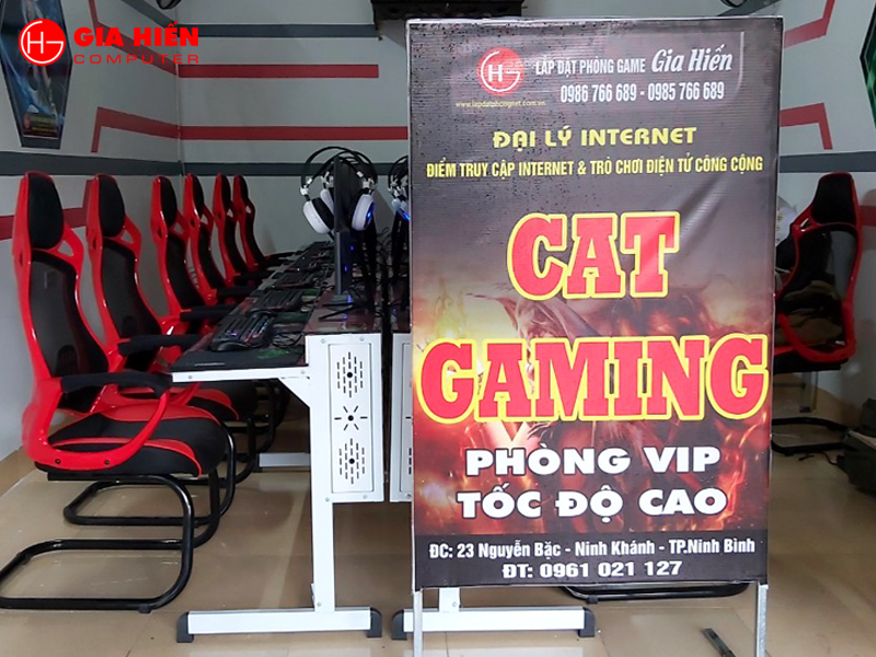 CAT GAMING được thiết kế theo mô hình Cyber game mini.