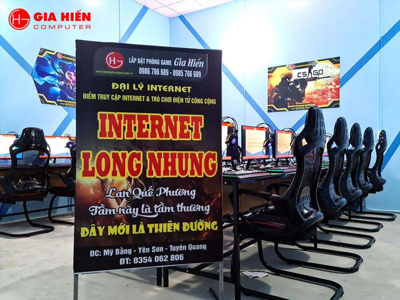 Internet Long Nhung được thiết kế theo mô hình Cyber game mini.