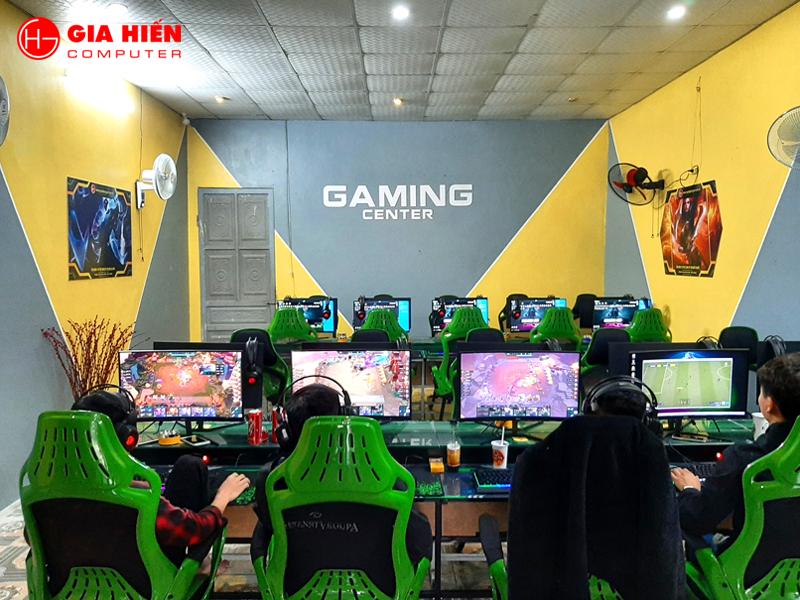 Không gian phòng game được trang trí với tông màu Vàng - Ghi