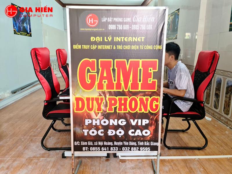 Game Duy Phong tọa lạc tại huyện Yên Dũng, Bắc Giang.