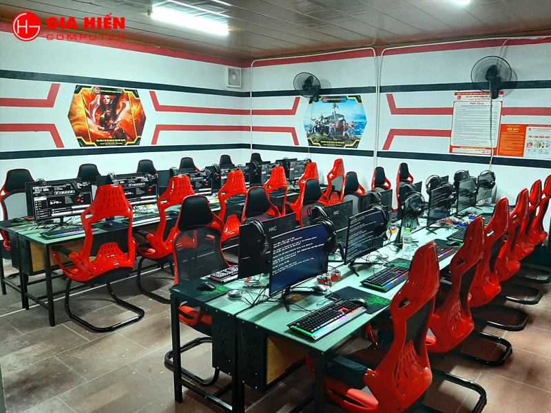Phòng game được thiết kế theo mô hình Cyber game mini hiện đại, chuyên nghiệp.