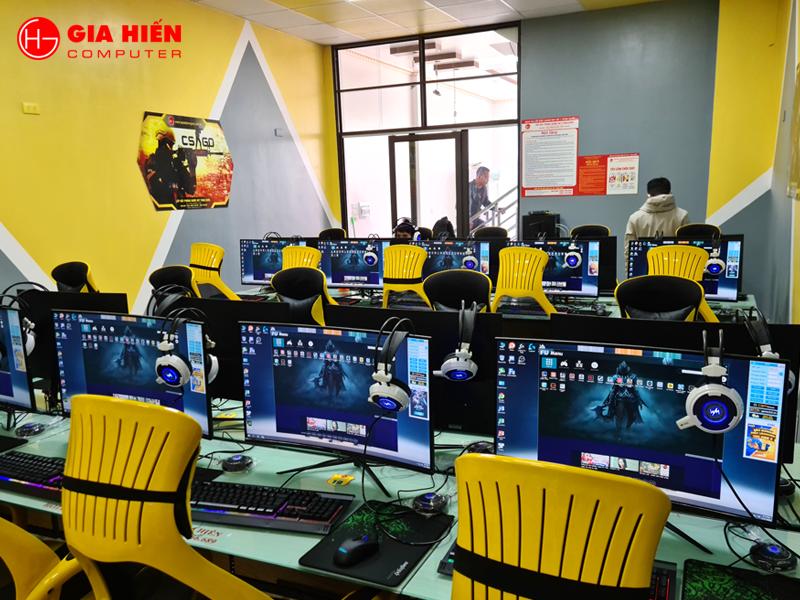 Game Thái Loan được bố trí 30PC cấu hình cao đáp ứng chơi mượt mà mọi tựa game.